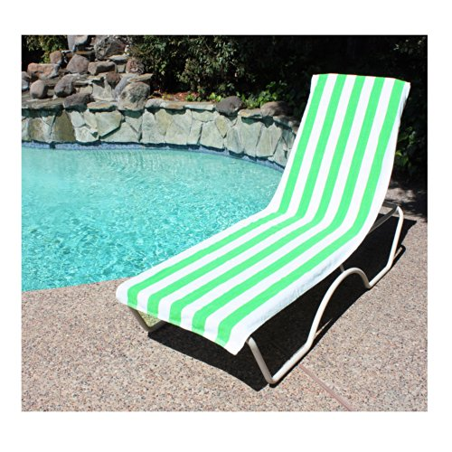 J U0026 M Home Fashions Lounge Chair Beach Towel With Fitted Pocket, 26 Inch