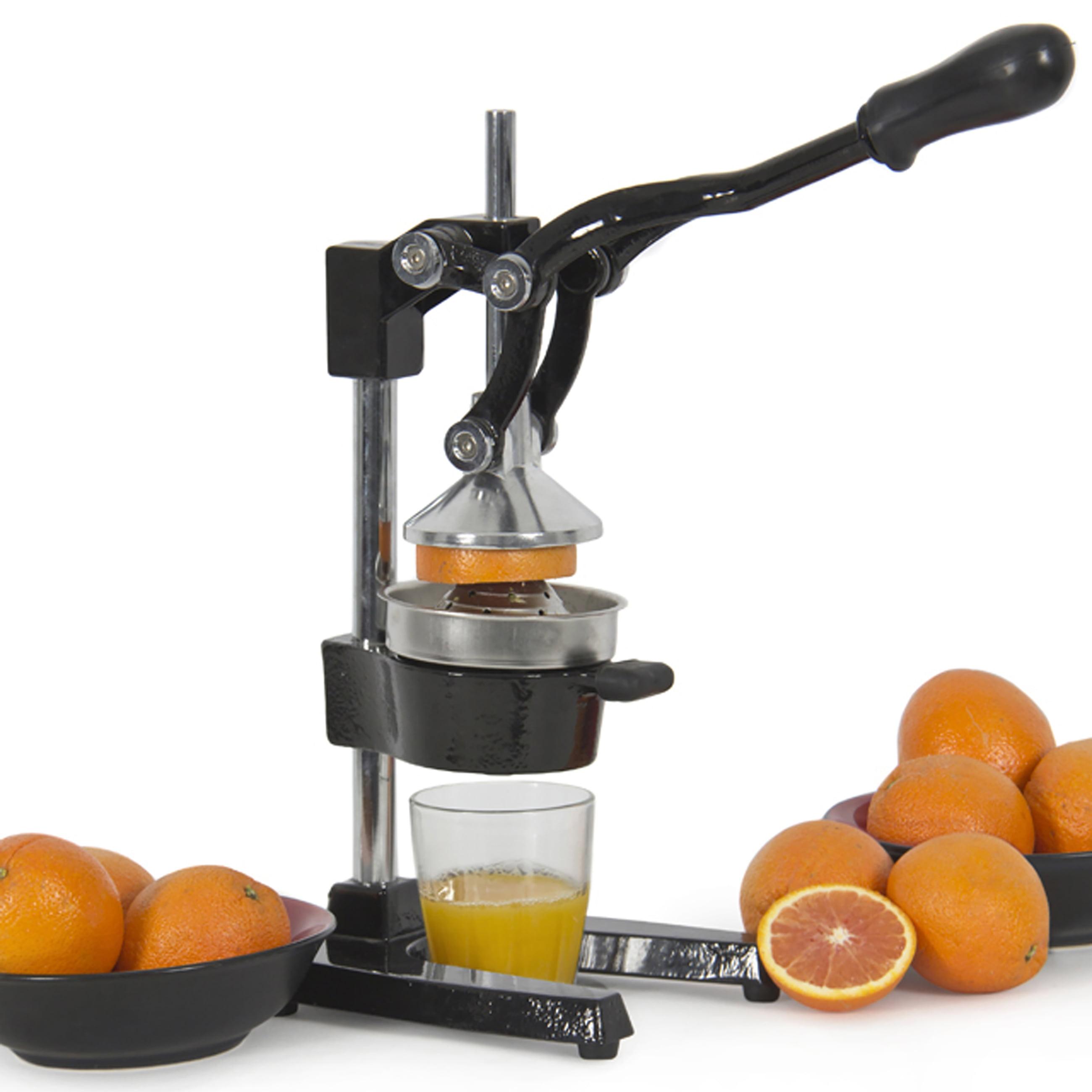 Best Choice Products Large Heavy-Duty Commercial Fresh Squeeze Citrus Fruit Juicer w/ Manual Ergonomic Handle for Oranges, Lemon, Pomegranate, Grapefruit - Black