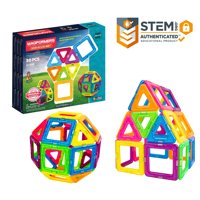 Magformers Neon 30 Pieces Rainbow neon colors, Magnetic Geometric tiles STEM Toy Ages 3+