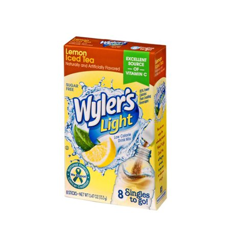 (10 Pack) Wyler's Light Drink Mix Singles To Go! Lemon Iced Tea, Sugar Free, 8-ct box](Cool Halloween Drinks With Dry Ice)