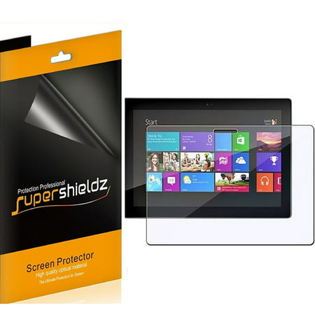 [3-Pack] Supershieldz for Microsoft Surface Windows RT / Pro  Screen Protector, Anti-Bubble High Definition (HD) Clear