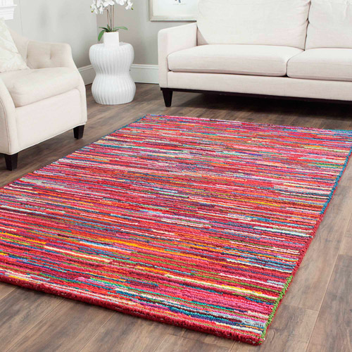 Safavieh Nantucket Tanzil Hand-Tufted Cotton Area Rug, Pink/Multi