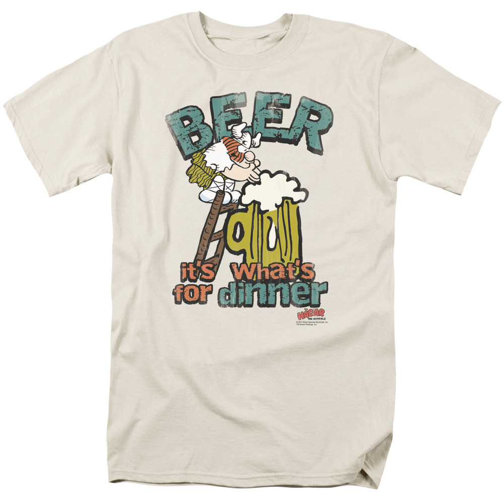 Hagar The Horrible Beer, Dinner Mens Short Sleeve Shirt