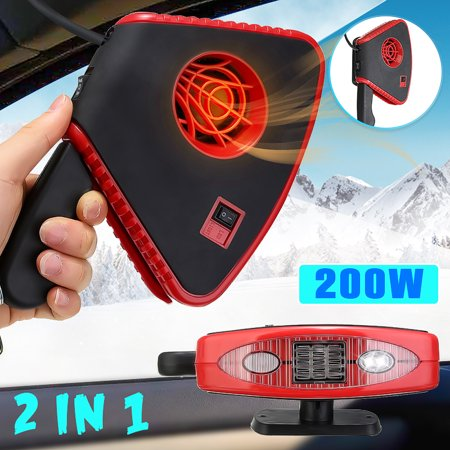 - 200W/150W DC 12V Car Automatic Instant Heater Defroster Demister Cooling Fan With 2 LED Light Melting Snow and Ice Good Winter Car Assistant Windscreen Defroster