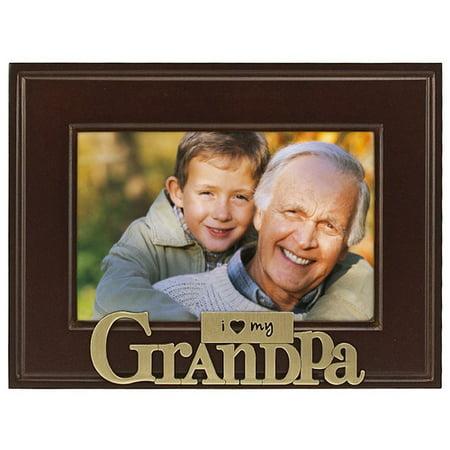Malden I Heart My Grandpa Picture Frame - I Love Grandpa Frame