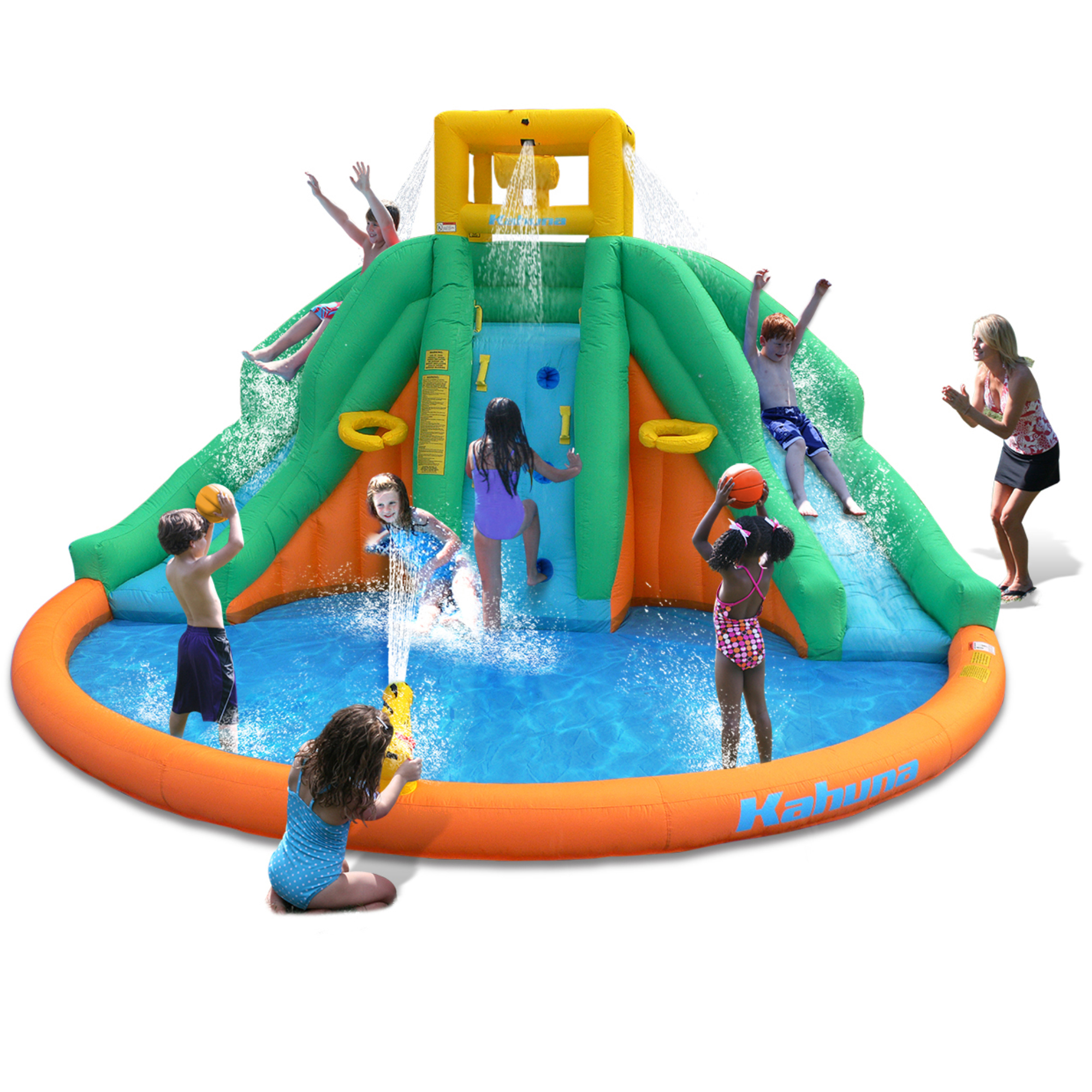 Magic Time - Twin Peak Inflatable Water Park with Slide