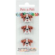 Buttons Galore Pets & Pals 3/Pkg-Boxers