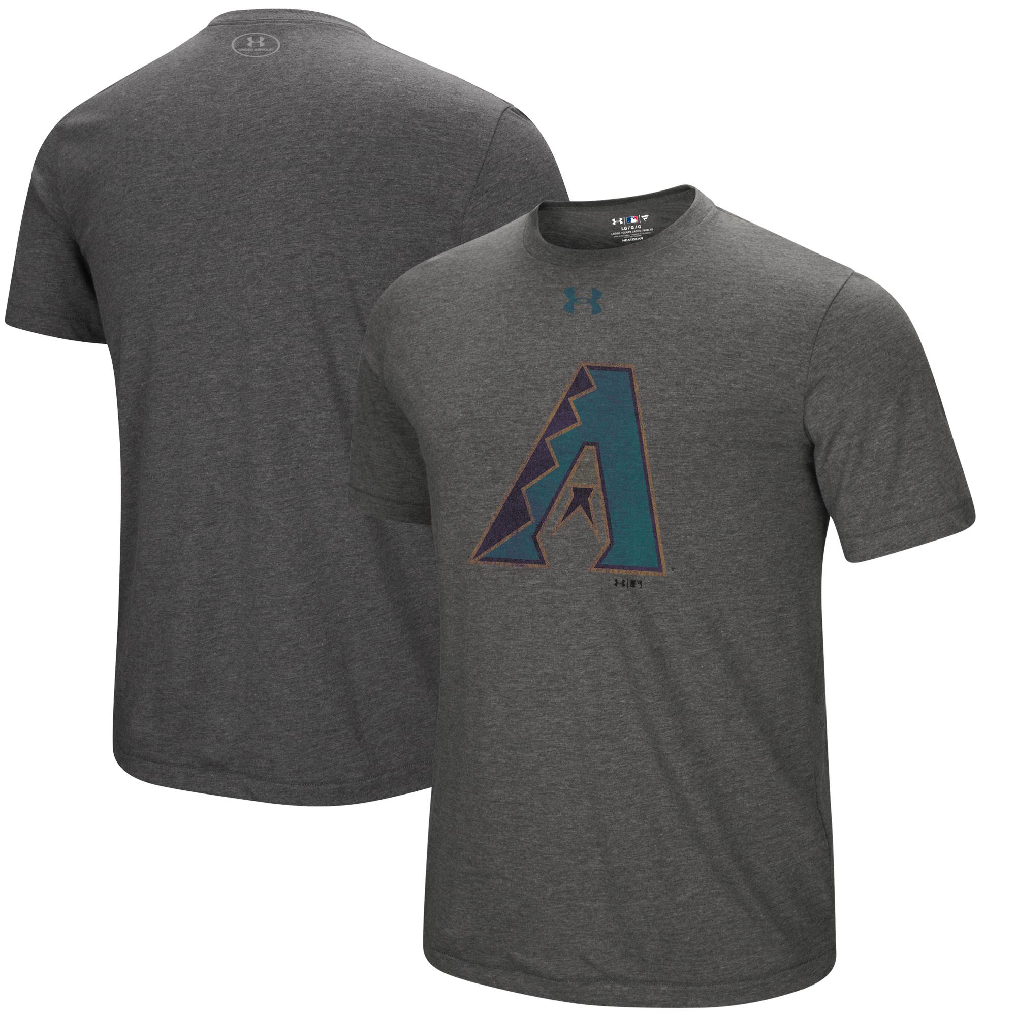 Arizona Diamondbacks Under Armour Cooperstown Collection Mark Performance Tri-Blend T-Shirt - Heathered Charcoal