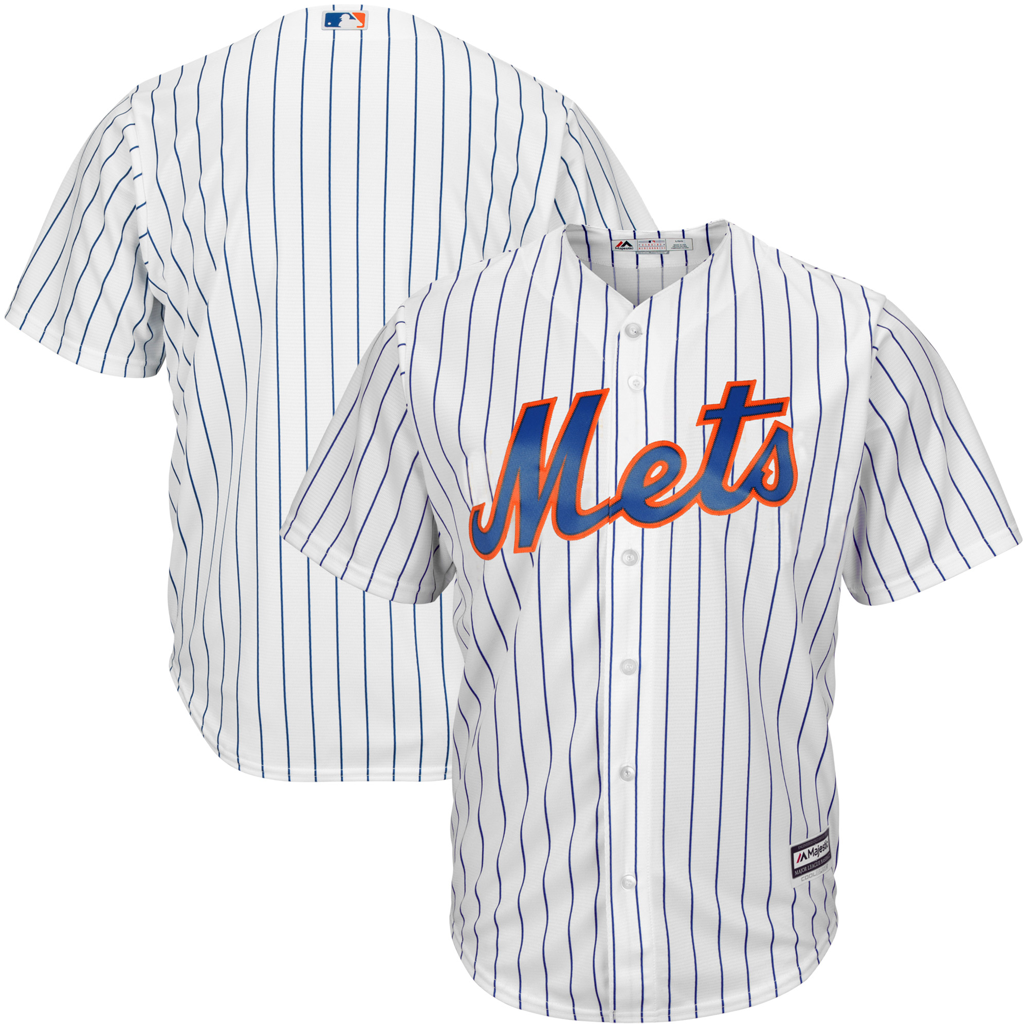 New York Mets Majestic Big & Tall Cool Base Team Jersey - White -