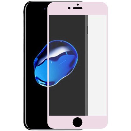 Insten Edged Boundary Tempered Glass Screen Protector with Package For Apple iPhone 8 Plus / iPhone 7 Plus - Rose