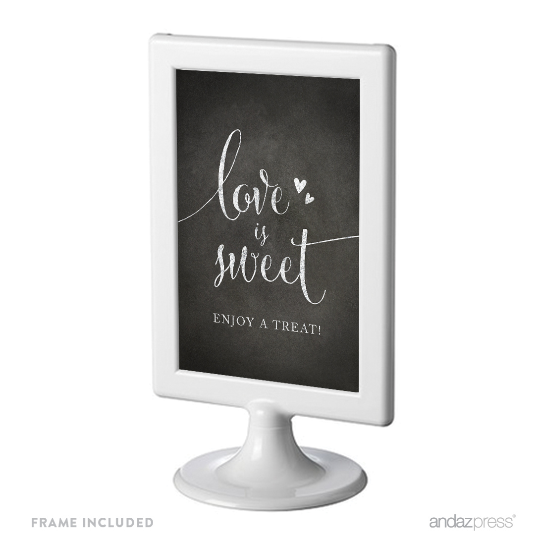 Love Is Sweet, Enjoy A Treat Framed Vintage Chalkboard Wedding Party Signs
