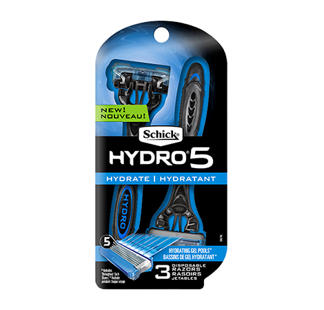 Schick Hydro 5 Men's Disposable Razor - 3 Count