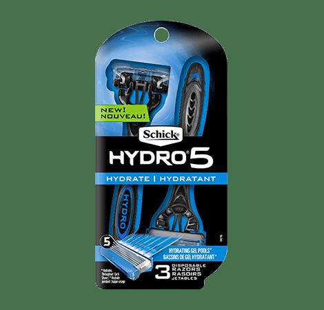 Schick Hydro 5 Men's Disposable Razor - 3 Count