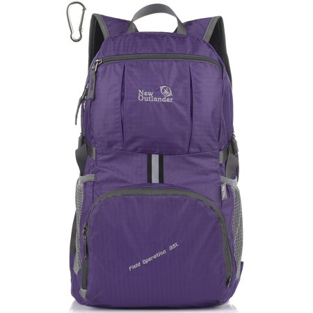 Outlander Packable Handy Lightweight Travel Hiking Backpack New Purple (Outlander Large Packable Handy Lightweight Travel Backpack Daypack)