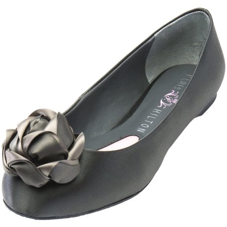Paris Hilton Footwear - Briana - Dark Grey Satin