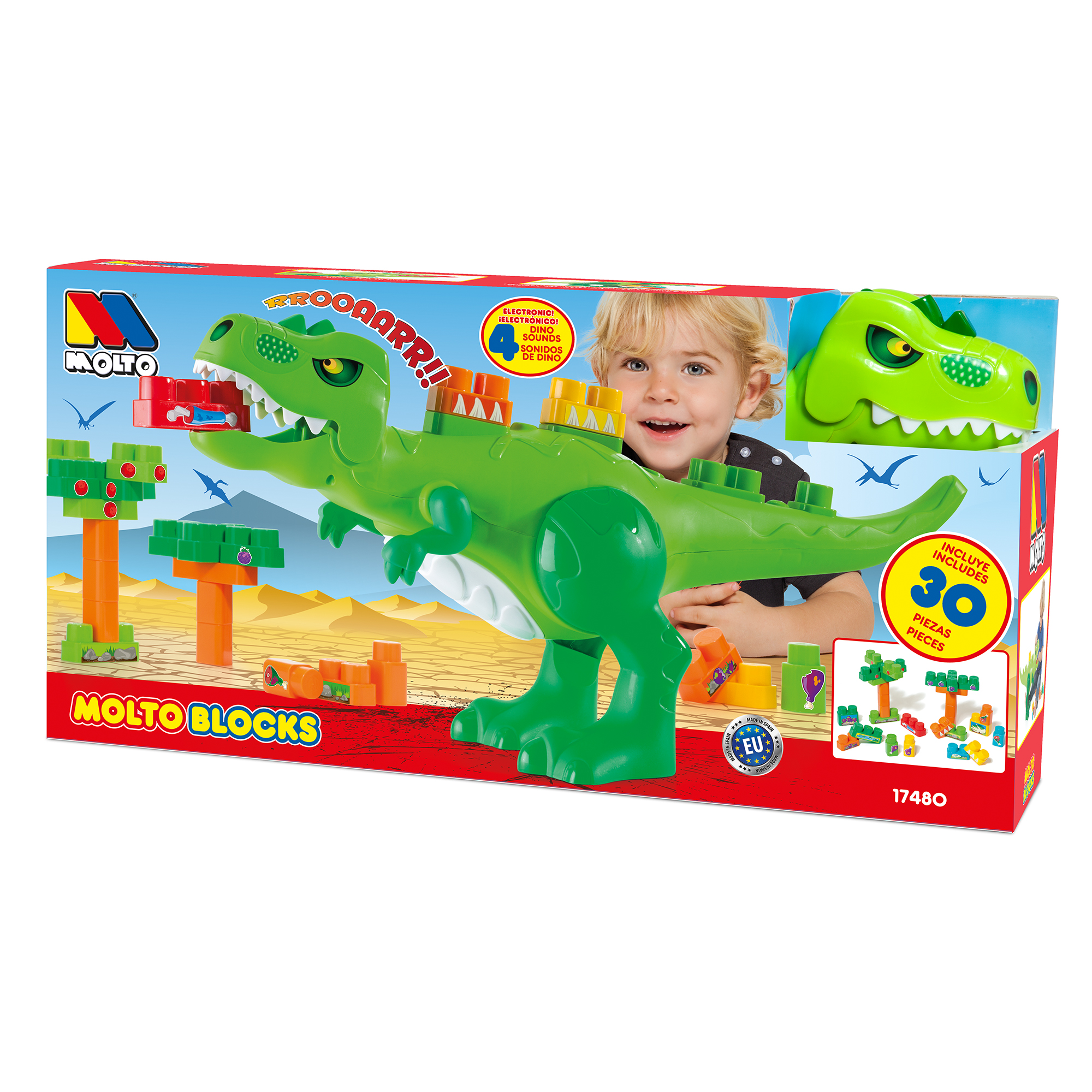 Molto Dino Blocks 30 Pieces Walmart Com