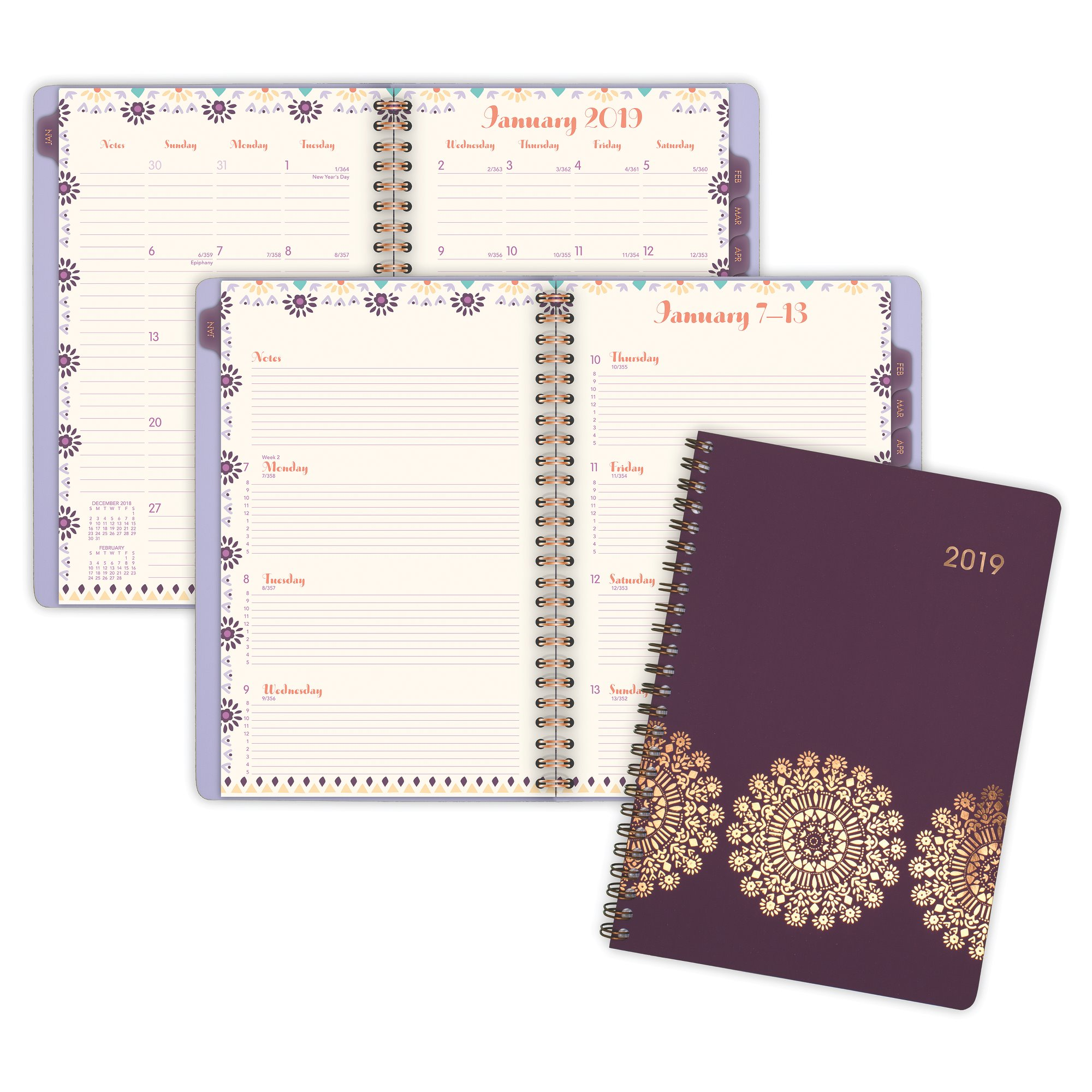 At-A-Glance Sun Dance Weekly-Monthly Appointment Book - Weekly - Monthly