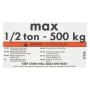 COLUMBUS MCKINNON CORP. CM 27278 Capacity/Warning Label