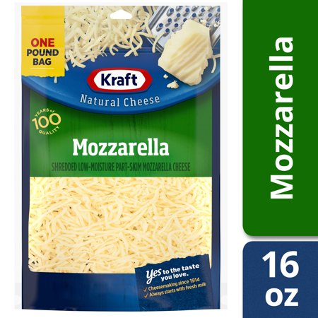 Kraft Mozzarella Shredded Cheese, 16 oz Bag