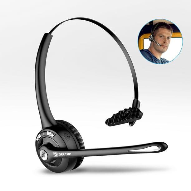 Delton Over The Head Skype Bluetooth Wireless Headset With Mic Walmart Com Walmart Com