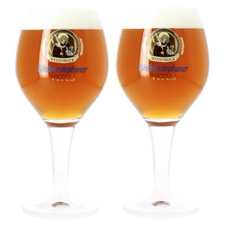 Vitus German Beer Glass 0.3L - Set of 2, Height: 8