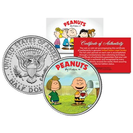 Peanuts Valentines   Charlie Brown   Peppermint Patty   Jfk Half Dollar Us Coin