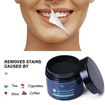 Lagunamoon Teeth Whitening Activated Charcoal Powder,Natural Teeth Whitening 4 oz Tooth & Gum Powder Updated