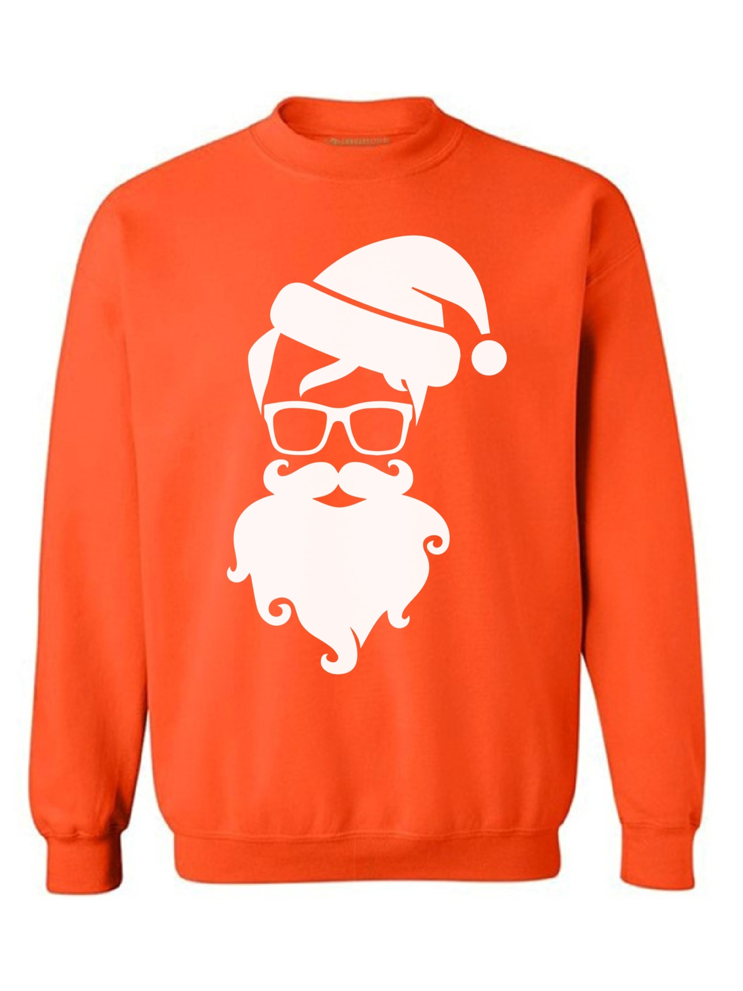 Awkward Styles Hipster Santa Sweater Christmas Sweatshirt Hipster Santa Claus with Glasses Christmas Sweater Modern Santa Christmas Sweatshirt for Men and for Women Hipster Holiday Sweatshirt