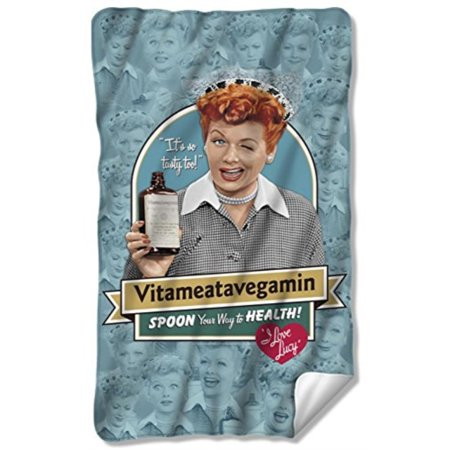 I Love Lucy Vitameatavegamin Fleece Blanket 35 x - I Love Lucy Throw