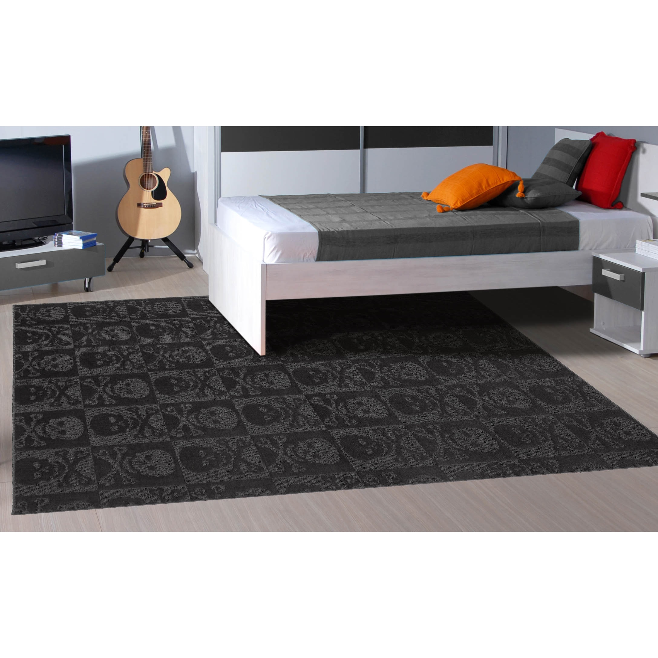 Design Black Rug your zone black tinsel fur rug 26 x 32 walmart com