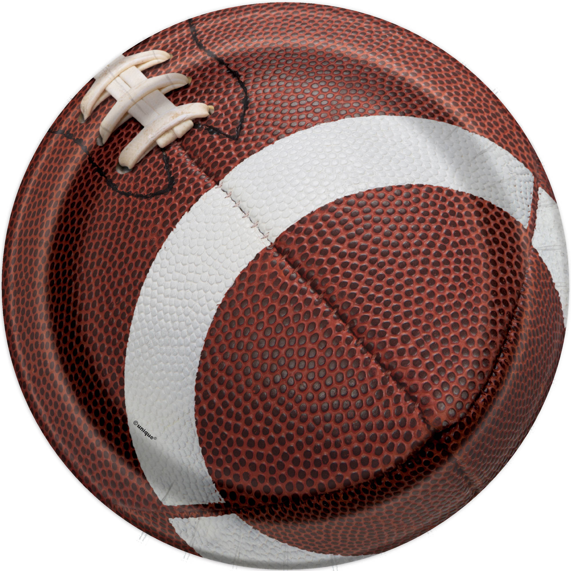 Football Paper Dinner Plates, 9in, 8ct