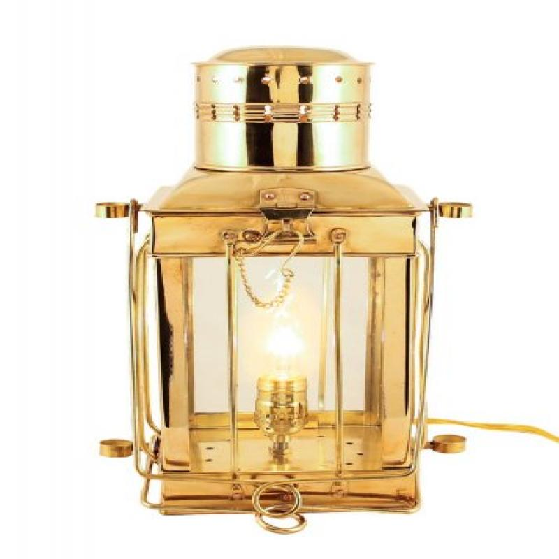 "Electric Oil Lamps -Brass Cargo Lamp 15"" Electric Hurricane Lantern by"