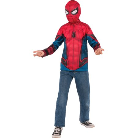 Spider Man Suit (Spider-Man Far From Home: Spider-Man Kids Costume Top (Red/ Blue)