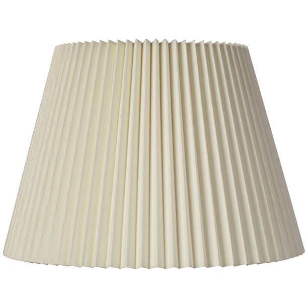 Brentwood Ivory Linen Knife Pleat Lamp Shade 9x14 5x10 Spider