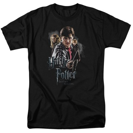 Trevco HARRY POTTER DEATHLY HOLLOWS CAST Black Adult Unisex - Harry Potter T Shirt