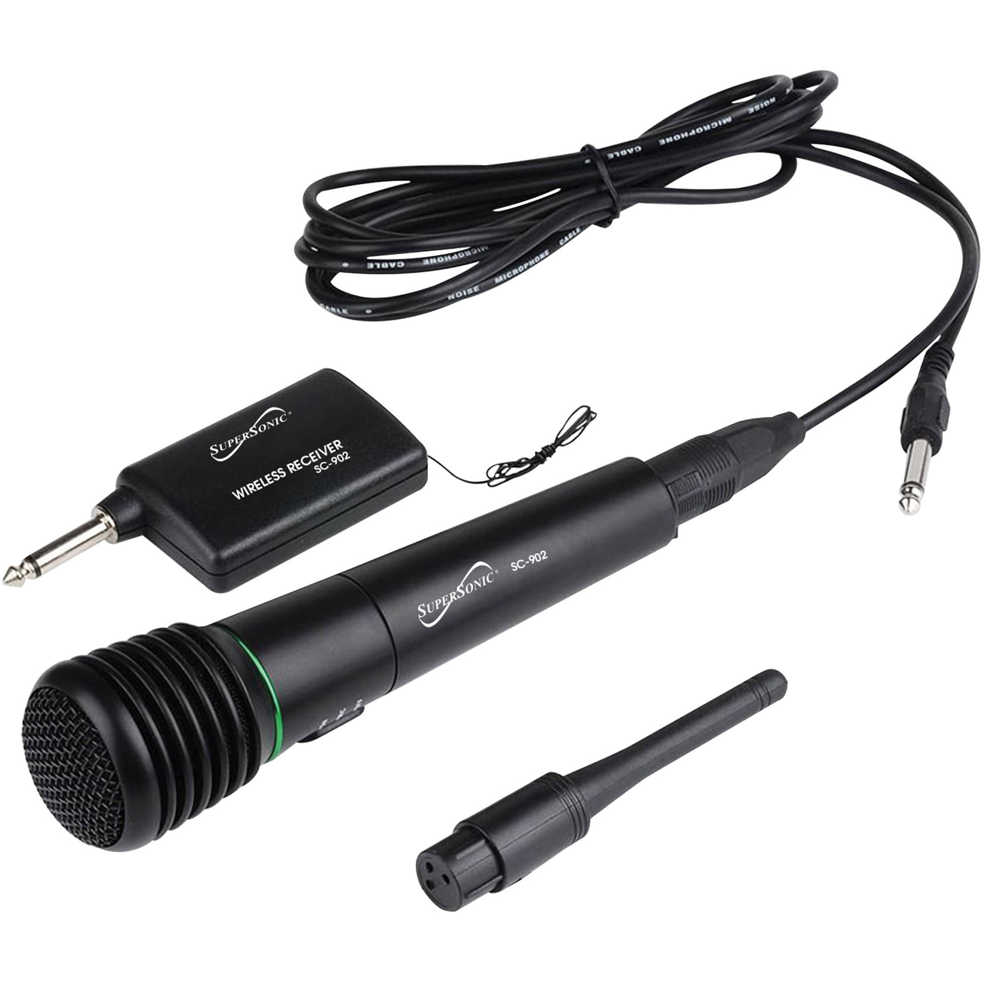 SuperSonic ProVoice 2-in-1 Wireless/Wired Professional Microphone