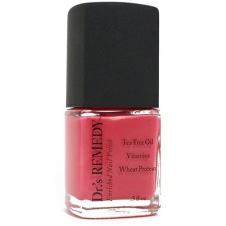 Dr.'s Remedy Non-toxic Nail Polish Relaxing Rose - Enriching nail polish helps Toe Fungus (Simple Halloween Toe Nail Designs)