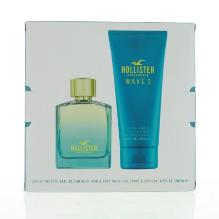 HOLLISTER WAVE 2 MEN 2 PIECE GIFT SET - 3.4 OZ EAU DE TOILETTE SPRAY by HOLLISTER - Walmart.com