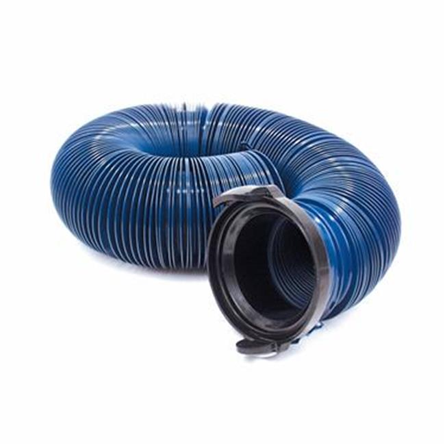 D040120PB 10 Ft. Quick Drain Sewer Hose, Blue