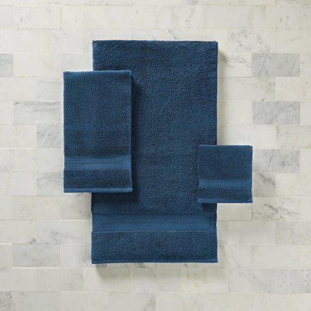 Better Homes & Gardens American Made Bath Towel - Solid Blue (Tan Body Towels)
