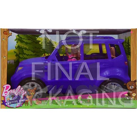 Barbie Camping Fun Doll and Teal Off-Road Adventure Vehicle
