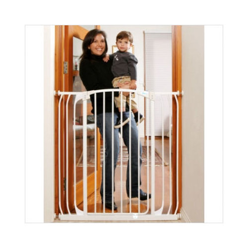Bundle-98 Dream Baby Extra Tall Hallway Swing Closed Saftey Gate in White (2 Pieces)
