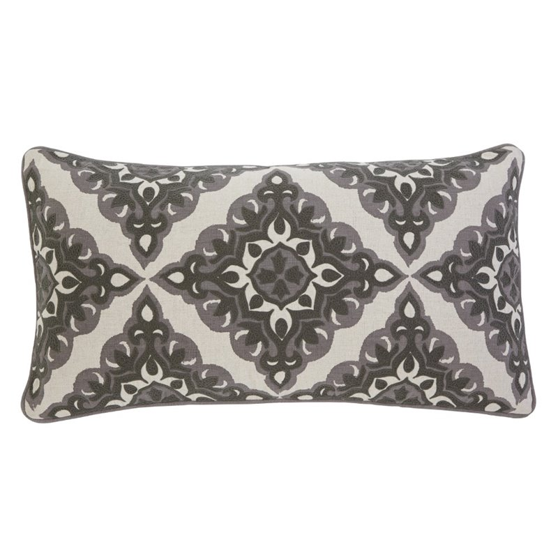 Ashley Geometric Throw Pillow in Gray (Set of 4) by Ashley Furniture