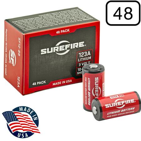Surefire SF123A Box of 48 123A 3 Volt Lithium Batteries