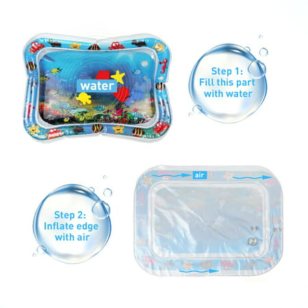 Inflatable Baby Water Mat Infant Tummy Time Playmat Now $12.49 (Was $22)