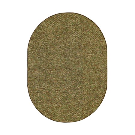 Outdoor Artificial Turf Camo Green Area Rugs With Premium Non Skid backing Great for Decks, Patio's & Gazebo's to Pools, Docks & Boats and other outdoor recreational purposes 1.5' x 2.25' Oval Mat ()