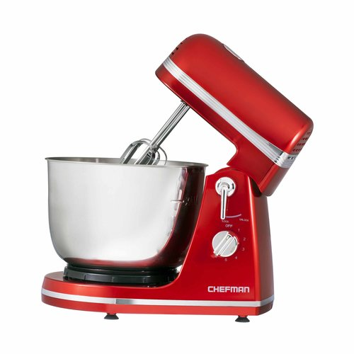 Chefman Ultra-Power Stand Mixer with Stainless Steel Bowl