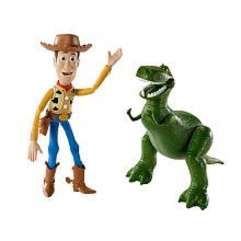 Disney   Pixar Toy Story 3 Exclusive Movie Moments 6 Inch Action Figure 2Pack Woody Rex by