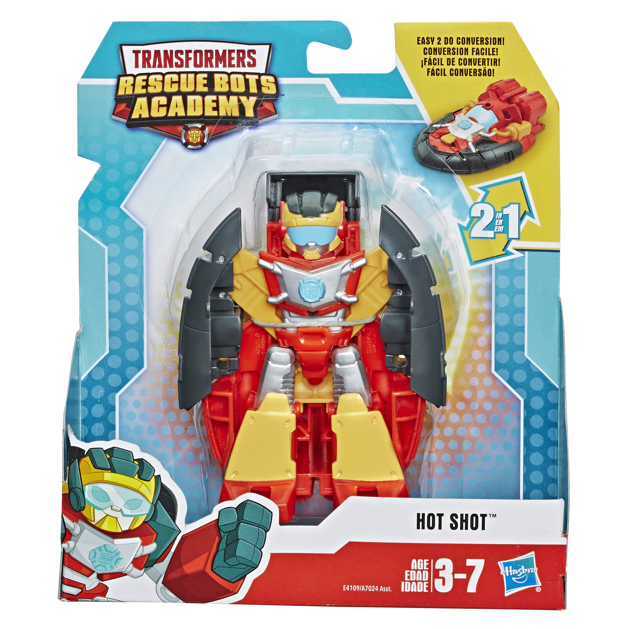 New Playskool Heroes Transformers Rescue Bots Hot Shot