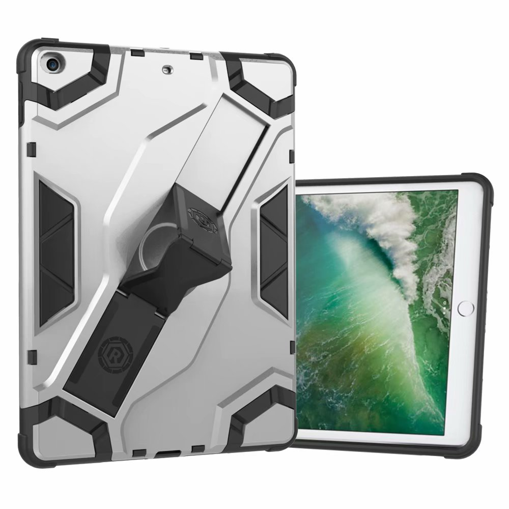 iPad Air Case, Dteck Hybrid Shockproof Heavy Duty Cover With Kickstand For Apple iPad Air 1st Generation - Silver